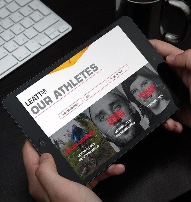 Leatt athletes page responsive